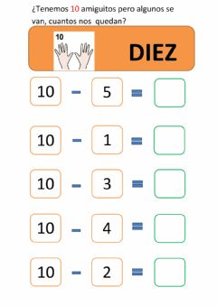 Interactive worksheet RESTAS DEL 10 ( PARTE 1)