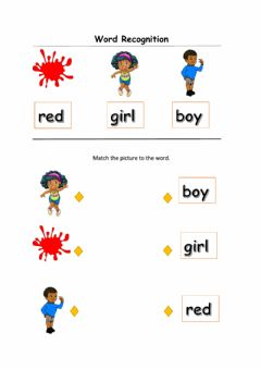 Interactive worksheet My words