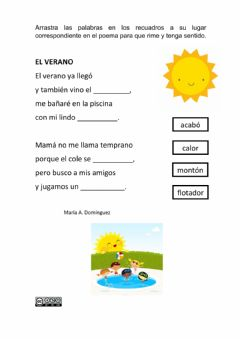 Interactive worksheet Rimas