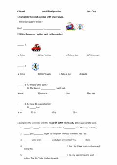 Interactive worksheet HAVE TO and VOCABULARY REVIEW