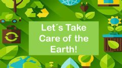 Interactive worksheet Let's Take Care of the Earth