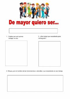 Interactive worksheet De mayor quiero ser