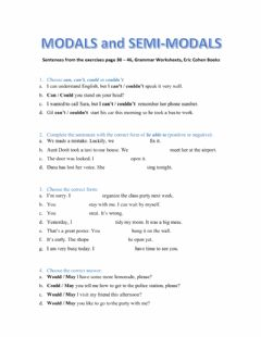 Ficha interactiva Modals and Semi-modals