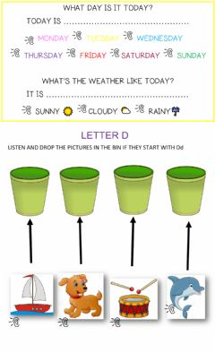 Interactive worksheet Letter d