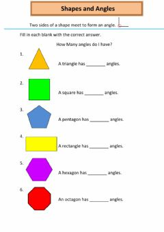 Interactive worksheet Shapes and Angles