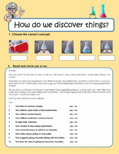 Interactive worksheet How do we discover things?