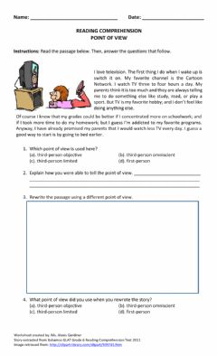 Interactive worksheet Point of View III