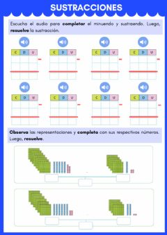 Interactive worksheet Sustracción