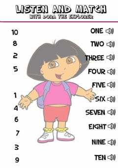 Interactive worksheet Number - Listen and match