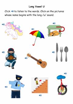 Interactive worksheet Letter U Beginning Sound