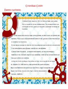 Interactive worksheet Cristobal Colon
