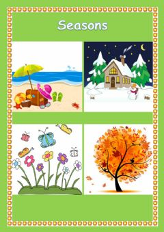 Ficha interactiva Seasons