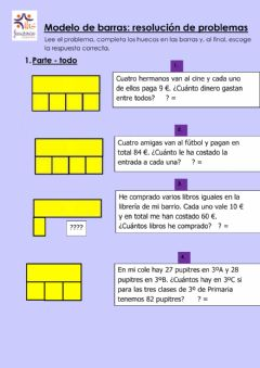 Interactive worksheet Modelo de barras: resolución de problemas