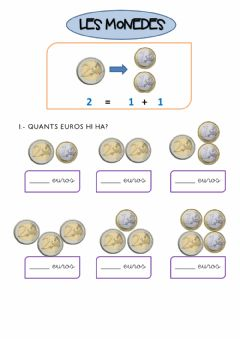Interactive worksheet Monedes d'euro