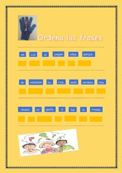 Interactive worksheet Ordenar frases