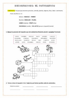 Interactive worksheet El substantiu