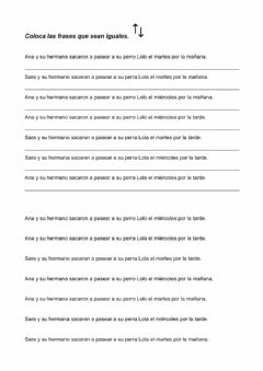 Interactive worksheet Frases idénticas