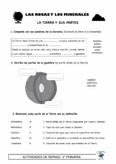 Interactive worksheet Capas de la Tierra