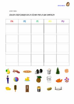 Interactive worksheet Letra p: ficha 6
