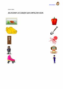 Interactive worksheet Letra p: ficha 7