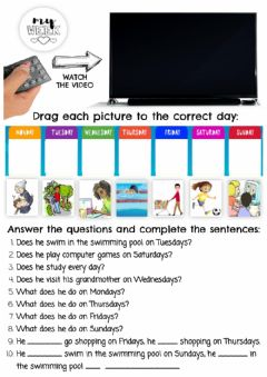 Interactive worksheet My week