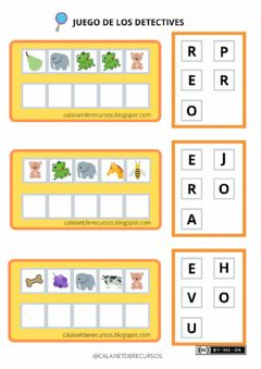 Interactive worksheet Detectives de palabras