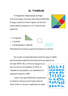 Interactive worksheet El tangram