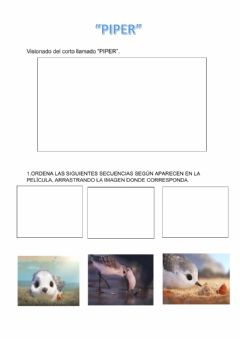 Interactive worksheet Piper