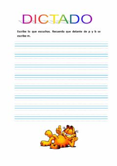Interactive worksheet Dictado mp mb