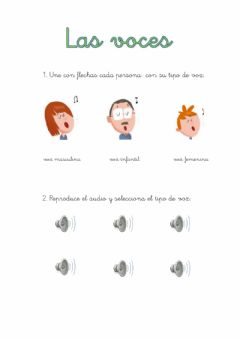 Interactive worksheet las voces 1º