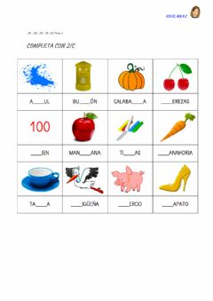 Interactive worksheet Z - c: ficha 1
