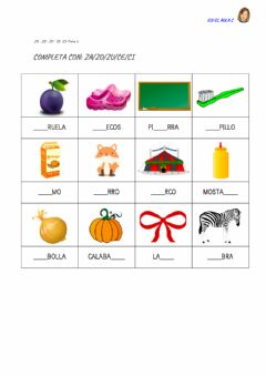 Interactive worksheet Z - c: ficha 2