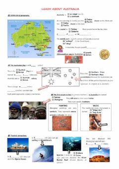 Interactive worksheet Learn about Australia