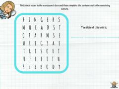 Interactive worksheet wordsearch parts of the body