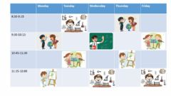 Interactive worksheet School subjects. Student A