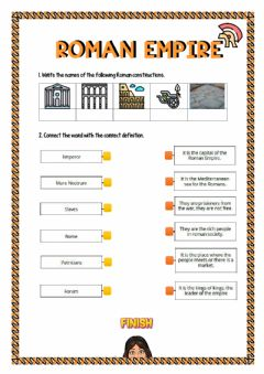 Interactive worksheet The Roman Empire