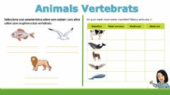 Interactive worksheet Animals vertebrats i animals invertebrats
