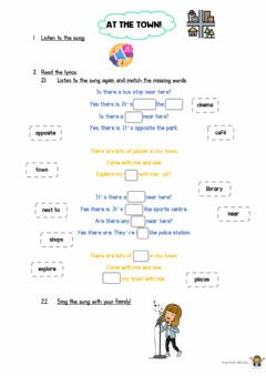 Interactive worksheet Song: Places in my town