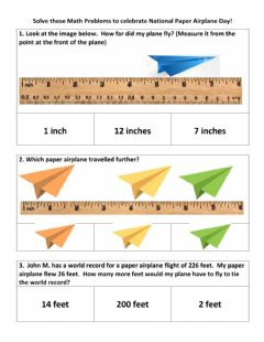 Interactive worksheet Paper plane math