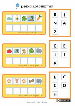 Interactive worksheet Detectives de palabras 2