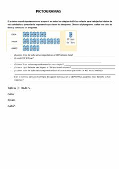 Interactive worksheet Pictogramas