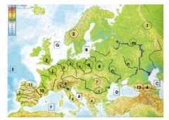 Ficha interactiva Physical Map of Europe 1.0