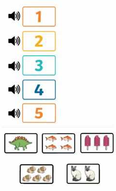 Interactive worksheet From 1 to 5