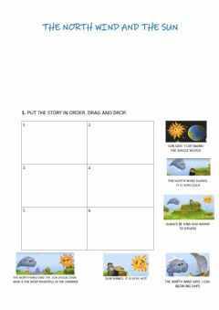Interactive worksheet The north wind and the sun