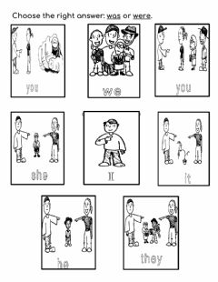 Interactive worksheet Verb to be in past affirmative