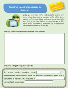 Interactive worksheet Virus informaticos
