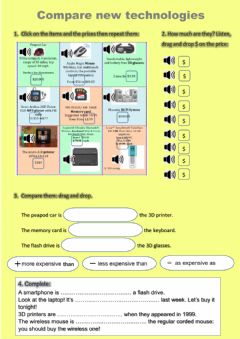 Interactive worksheet Compare technologies