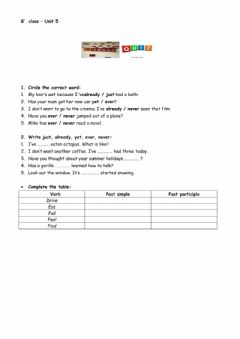 Interactive worksheet Present Perfect - Time expressions