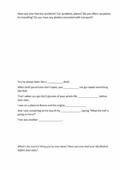 Interactive worksheet Leo's Bad Luck