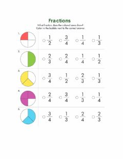 Interactive worksheet Fractions 2